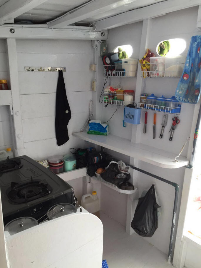 Private boat standard cabin - Kitchen