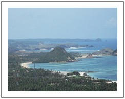 View of Kuta beach, Sasak tribe tour